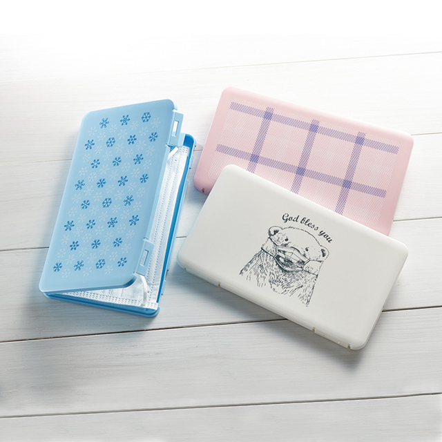 Disposable Face Masks Portable Storage Box KF95 KF99 N95 DS2 3M FFP3 FFP2 Masks Dustproof Storage Case Organizer Container