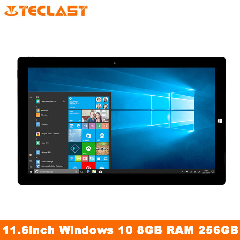 Teclast X4 2 in 1 Tablet Laptop 11.6 Inch Intel Gemini Lake N4100 2.4GHz 8G RAM 256GB WIFI Windows 10 Dual Camera Tablets PC