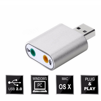 1pcs Audio Sound Card Adpater Mini External USB 2.0 7.1 CH Virtual Audio Sound Card Adapter Converter for Notebook PC 1