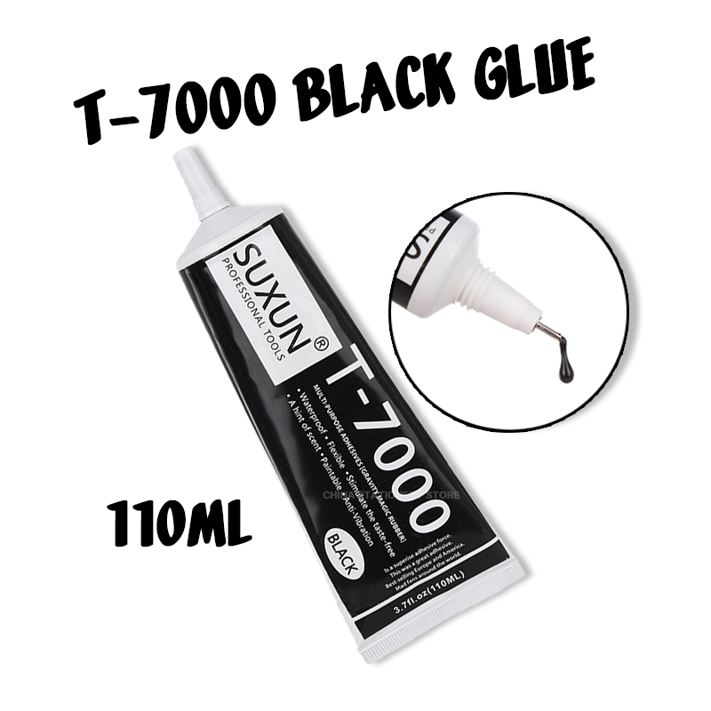 <font><b>T7000</b></font> <font><b>110ml</b></font> Multifunctional Glue DIY Mobile Phone Screen Frame Epoxy Sealant Super Black Liquid Glue T-7000 Nail Polish image