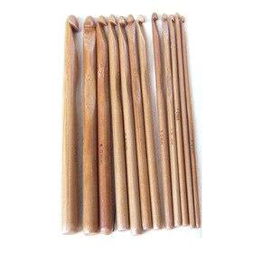 Image 3 - 12 adet bambu tığ kanca seti DIY örme İğneler kolu ev örgü örgü ipliği el sanatları ev örgü araçları