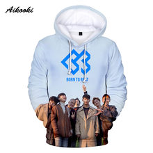 Aikooki BTOB Hoodies Men Hooded Sweatshirts Women Hoody BORN TO BEAT Singer Team Band Design Boy/Girl 3D Print Polluvers(China)