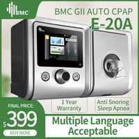 BMC GII Máquina automática CPAP E-20A/AJ equipo médico para la Apnea del sueño vibrador Anti ronquido ventilador con humidificador CPAP mascarilla