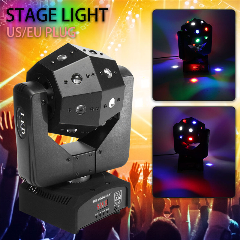 New 4-in-1 LED Stage Laser Projector Disco Lighting RGBW Led Stage Lamp LED Stage Light 360 Degree Lighting For DJ Event