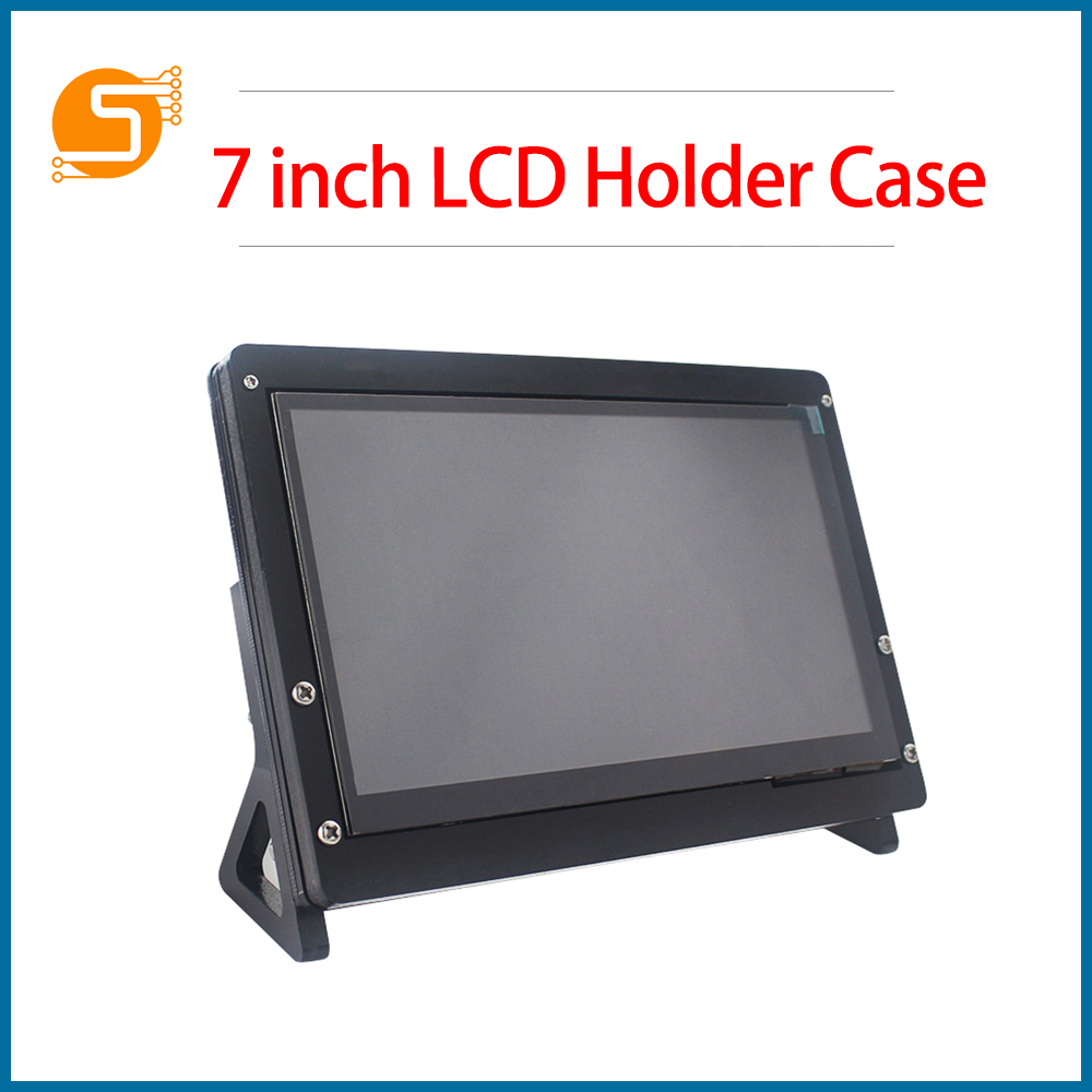 S ROBOT 7-inch LCD Display Touchscreen Housing Stand For Raspberry Pi 4 / 3B + / 3B Acrylic Stand  1024 * 600 RPI172
