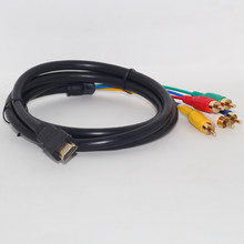 MODAO 5ft Full HD 1080P HDMI Male to 5 RCA RGB Audio Video AV Component Cable 7.31(China)