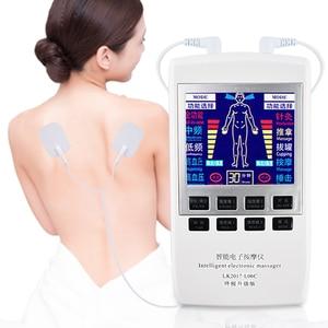 Image 2 - Health Care Tens Acupuncture Massager EMS Muscle Stimulator Pain Relief Massager Back Neck Body +18 Massage Mat Back Massager