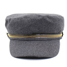 XYKGR new woolen hat fashion casual ladies cap retro military classic lovers