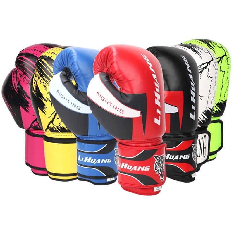 Kick Boxing Gloves For Men Women PU Karate Muay Thai Free Fight MMA Sanda Training Gloves 6 8 10 12oz Gym Boxing Equipment