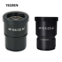 One piece WF10X/22 WF10X/20 Eyepiece for Stereo Microscope High Eye-point Fully Coated Optical Ocular Lens WF10X 10X 30mm 30.5mm pair wf10x 20 eyepieces 30mm with one pair eyeguard for stereo microscope