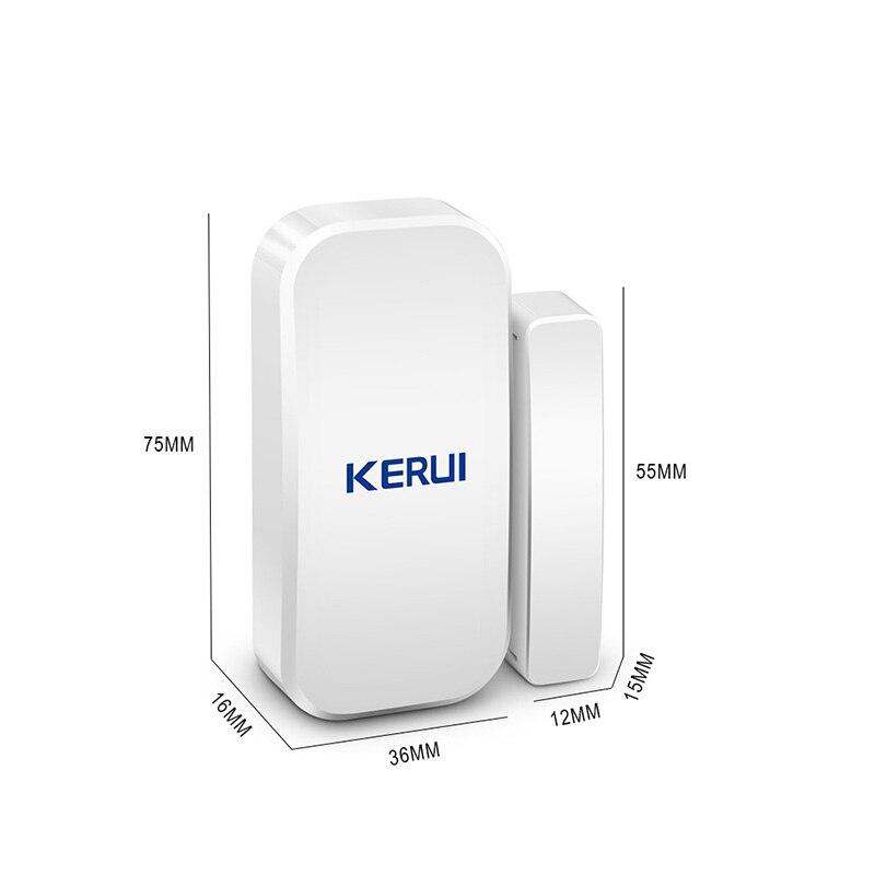 Image 3 - KERUI Intelligent Wireless Door Gap New White 433 Mhz Contact Wireless Door Window Magnet Entry Detector Sensor Window Sensorssensor windowsensor sensorsensor detector -