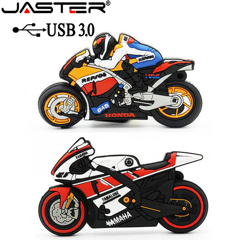 JASTER USB 3.0 Moto Bike Usb Flash Drive Pendrive 64gb 32gb Pen Drive Motorcycle 4g 16gb Motorcar Memory Stick U Disk Flash Card