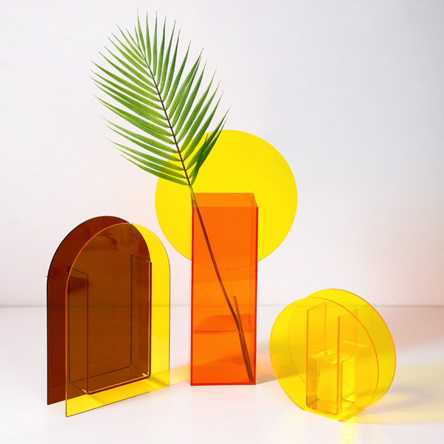 O.RoseLif Hotel Wedding Office Home Decoration Creative  Acrylic Vases Magic Geometry Terrarium Hydroponic Flower Bottle 1