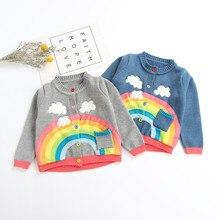 Толстый Пуловер для маленьких мальчиков и девочек, топы, теплая одежда, одежда для мальчиков и девочек, теплые вязаные однотонные топы, свитер