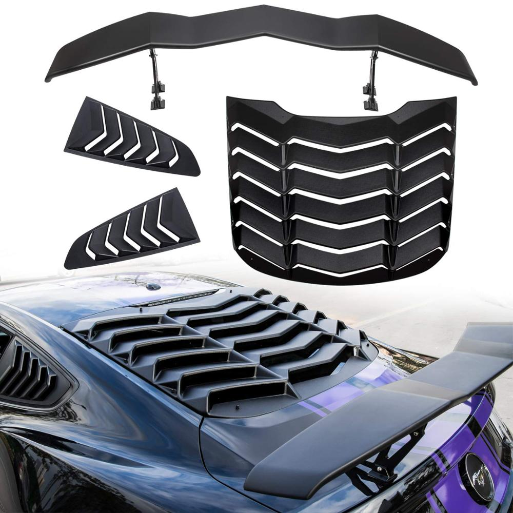 Yoursme Rear Window Louver Windshield Sunshade Cover for Dodge Charger 2011-2020 in GT Lambo Style ABS Matte Black