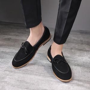 Image 2 - Sapatos de camurça para homens, sapatos de carmurça, slip on, sapatos casuais, festa, casamento, tamanhos grandes 37, 2020 47