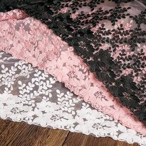 Image 1 - 1 ヤードホワイトレース生地 32 センチメートル幅綿刺繍ミシン用品リボンレース diy 衣服カーテンアクセサリー