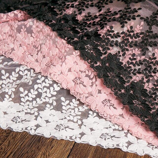 1 หลาผ้าลูกไม้สีขาว 32 ซม.ความกว้างผ้าฝ้ายปักเย็บอุปกรณ์ริบบิ้นลูกไม้ TRIM ชุด DIY เสื้อผ้าผ้าม่านอุปกรณ์เสริม