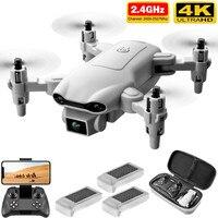 Mini Dron 4K 1080P HD con cámara WiFi Fpv, cuadricóptero de control remoto plegable, control de altitud, color gris, 4DRC V9