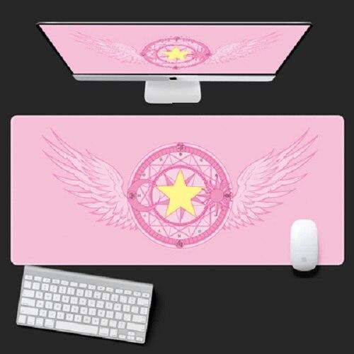 Аниме карта captor Sakura Sailor Moon Единорог, фигурка, водонепроницаемые настольные коврики, компьютерный игровой коврик для клавиатуры ноутбука, бо...