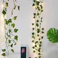 2M Künstliche Pflanzen Led String Licht Creeper Green Leaf Ivy Reben Für Home Hochzeit Decor Lampe DIY Hängenden Garten hof Beleuchtung