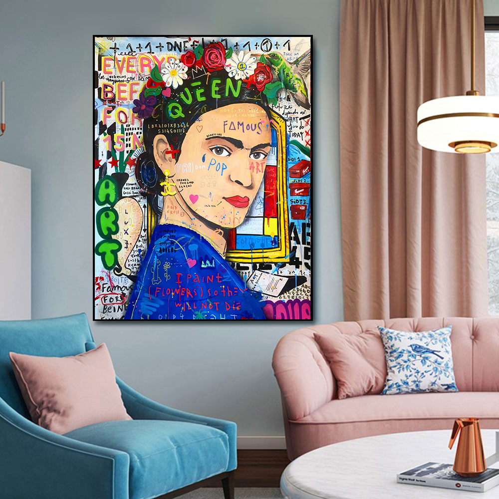 Famous Painter Portrait Graffiti Canvas Paintings Abstract Pop Wall Art Posters And Prints Pictures For Living Room Home Decor
