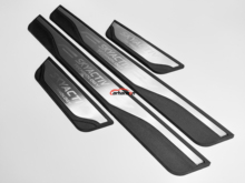 For Car Styling Sticker Mazda 3 2014-2019 Stainless Door Sill Sills Kick Scuff Plate Protector Trim Cover Guard Auto Accessories for car styling sticker mazda 3 2014 2019 stainless door sill sills kick scuff plate protector trim cover guard auto accessories