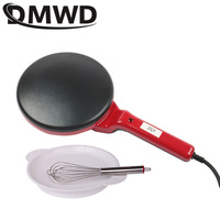 DMWD Mini Electric Crepe Maker Pizza Pancake Cooking Pan Kitchen Non-stick Biscuit Griddle Chinese Spring Roll Baking Machine EU