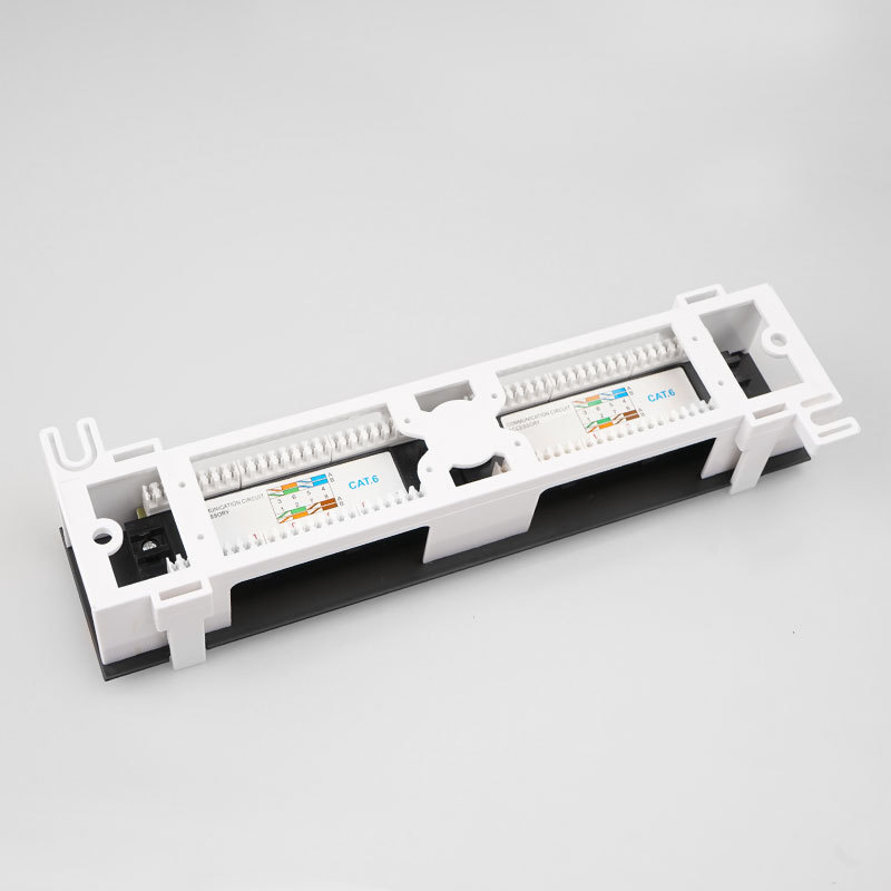 Network Tool Kit 12 Port CAT6 Patch Panel RJ45 Networking Wall Mount Rack with Surface Wall Mount Bracket 3