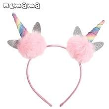 Ears-Hair-Bands Pompom-Ball Panda Fluffy Girls Cute Hair-Accessories Kids Fashion Solid