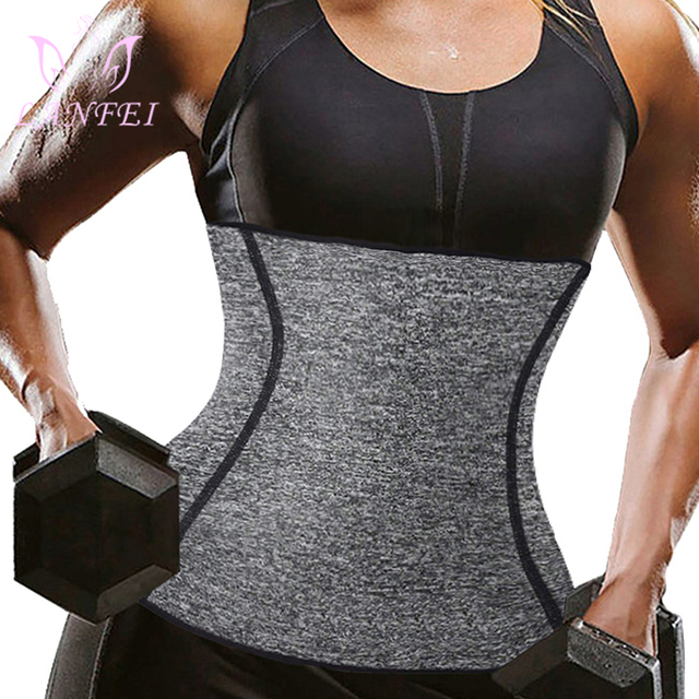 LANFEI Waist Trainer Body Shaper Slimming Belt Sauna Sweat Corset Women thermo Neoprene Tummy Control Cincher Strap Weight Loss