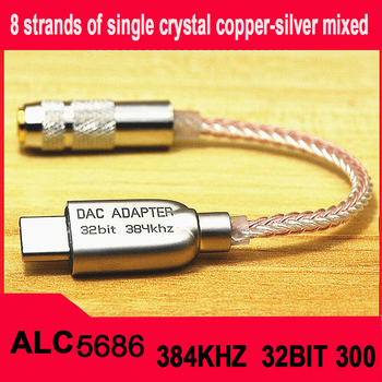 Type-C To 3.5 Jack ALC5686 chip HiFi Digital Audio HIFI Decoding  DAC Sound Card Earphone cable For Huawei mate20 30pro - discount item  30% OFF Portable Audio & Video