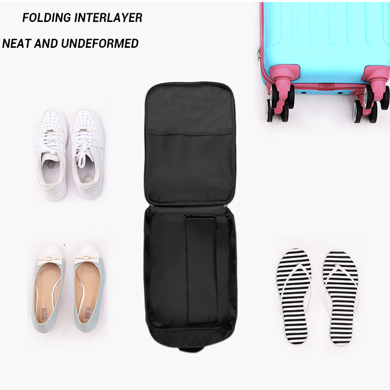 Portable Shoes Storage Bag Waterproof Nylon Sorting Pouch Zip Lock Travel Luggage Organizers for Home Organizer Accessories in Storage Bags from Home Garden