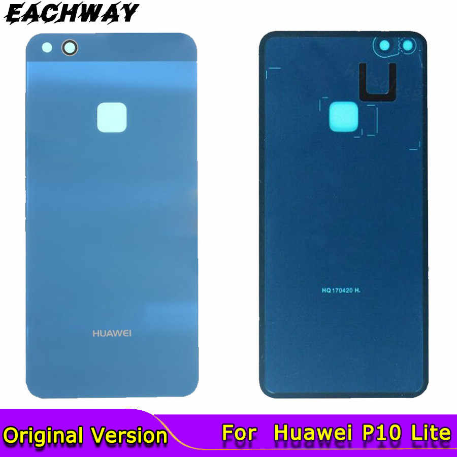 Original Huawei P10 Lite Back Glass Battery Cover Rear Door Nova Lite Housing Huawei P10 Lite Battery Cover Case Panel Replace