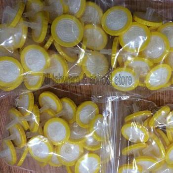 100 sztuk partia Dia 25mm rozmiar porów 20um jednorazowe PP strzykawka filtr membrana mikroporowata tanie i dobre opinie BINFUL PP-20 Lejek 100pcs pack