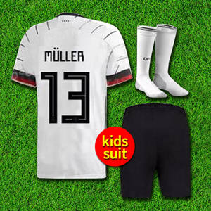 2019 2020 Germanyed soccer jersey for kids set 19 20 home croos HUMMELS BOATEN standing jersey Euro kids football jerseys