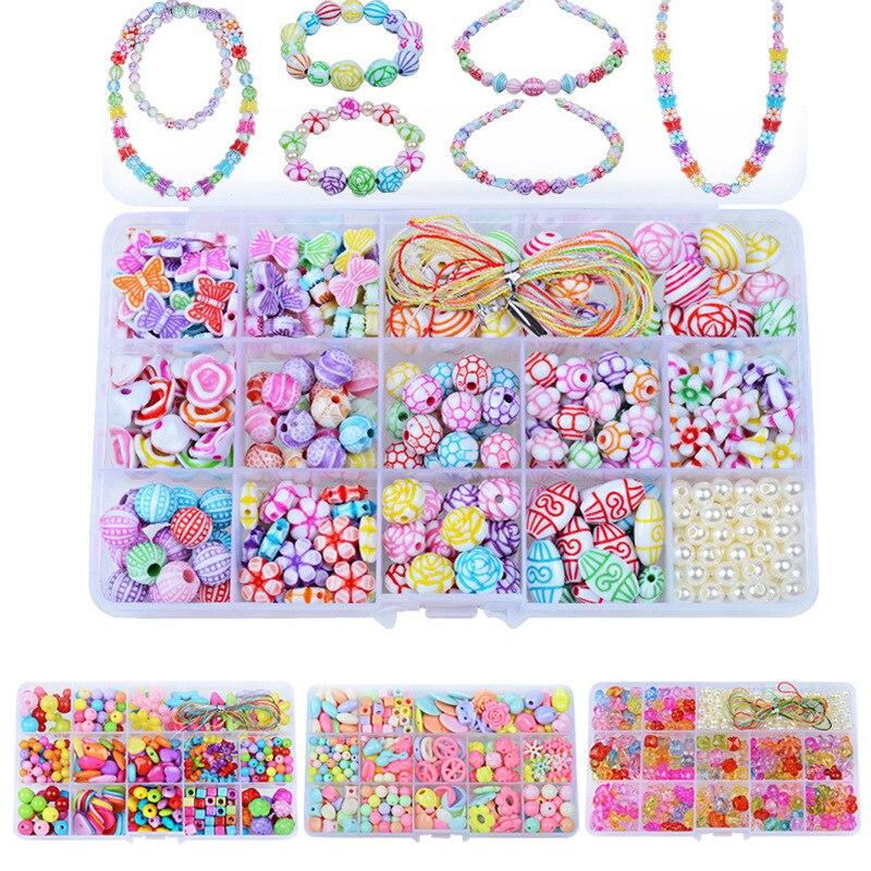 Handmade DIY Creative Weaving Children'S Educational Toy 15 Lattice Beaded Bracelet Gift Box