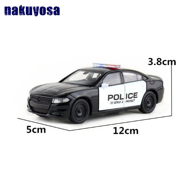 Welly DieCast Model/1:36 Scale/2016 Dodge Charger Pursuit R/T Police Toy/Pull Back Educational Collection/Gift For Children