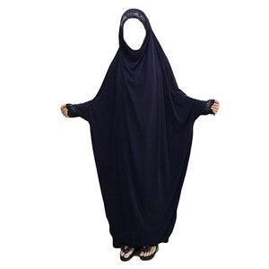 Image 5 - המוסלמית הבורקה העבאיה נשים חיג אב תפילת שמלת האיסלאם תקורה ורקה ניקאב ארוך Khimar גלימת קפטן המזרח התיכון הערבי בגדים