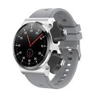Reloj inteligente deportivo 2 en 1 para mujer, Auriculares inalámbricos con Bluetooth de 1,28 pulgadas, Tws, rastreador de ritmo cardíaco y presión arterial, GT69pk Gt2