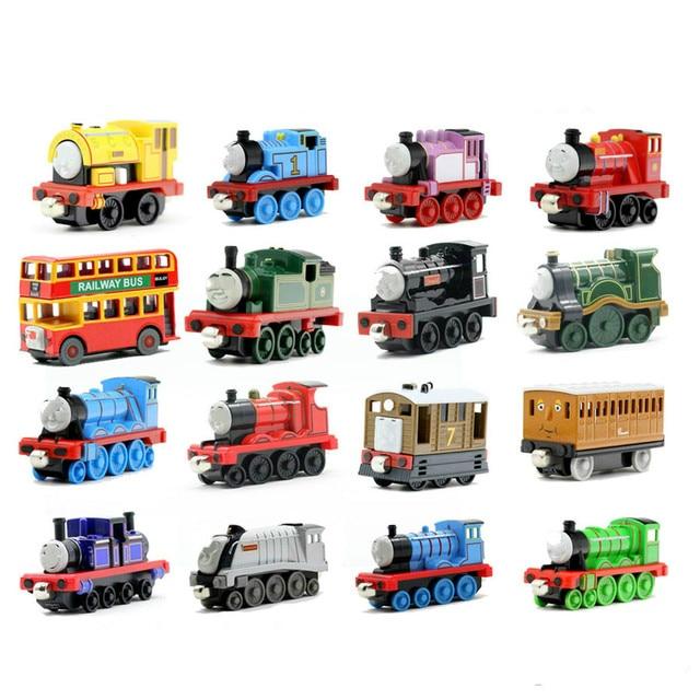 نموذج تعليمي معدني جديد للقطارات المغناطيسية لعبة سيارة صغيرة مناسبة لأعياد الميلاد هدايا ستيفن وينستون للأطفال