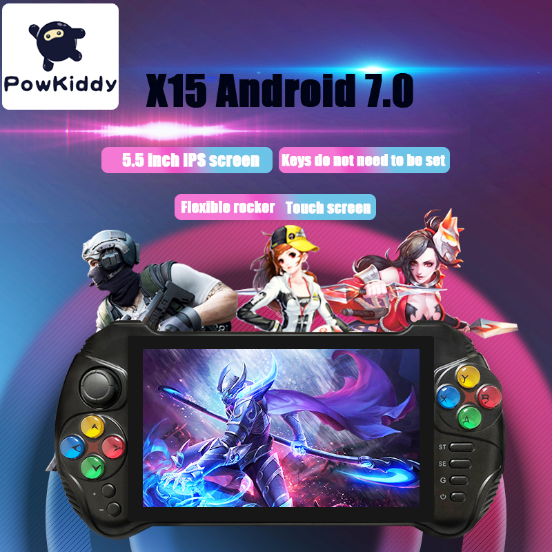 Powkiddy X15 Andriod Handheld Game Console 5.5 INCH 1280*720 Screen MTK8163 quad core 2G RAM 32G ROM Video Handheld Game Player 1