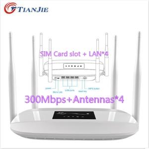 TIANJIE 4G LTE CPE Router wi-fi odblokuj 300 mb/s 4 antena zewnętrzna gniazdo karty sim RJ45 LAN Port Hotspot bezprzewodowy Modem Dongle Wifi