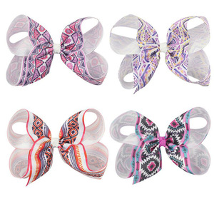 Hair Accessories For Girls Hairclip Baby Girl Toddler Big Sweet Bowknot Hairpin National Printing Hair Clips Accessories