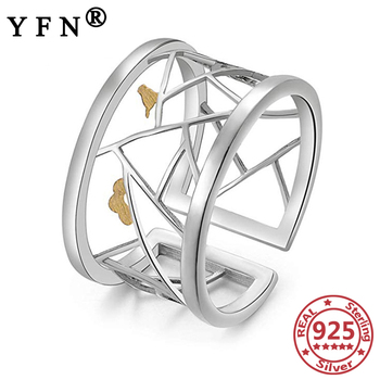 YFN 925 Sterling Silver Rings For Women Cloud Bird Hollow Woman 925 Silver Ring Jewelry Mother's Day Gifts Women's Jewelry Rings