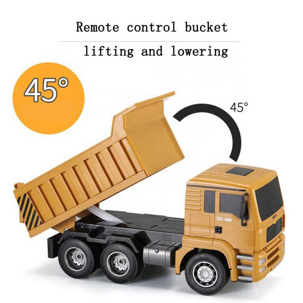 1/18 Hui Na Spielzeug Rc Dump Lkw Bagger Elektrische Kinder Technik Lkw Modell Strand Spielzeug Transporter Auto Für Jungen