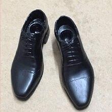 В наличии 1/6 масштаб черная пластиковая обувь сплошной peg