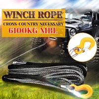 30M 8mm Synthetic Winch Rope Off Road Self Recovery Tow Cable Rigging Car Towing Ropes Trailer Belt With Hook for Vehicle Track