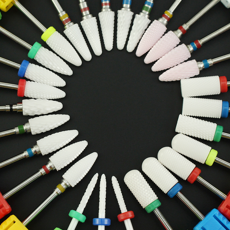 Ferramentas de cerâmica para unhas 1pç, cortador rotativo para manicure, lixadeira de unhas, acessórios para manicure, ferramentas para remoção de unhas gel