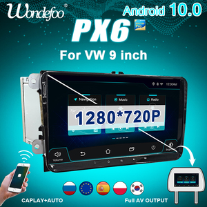 Image 1 - CAR Radio 2 din Android 10 stereo for Volkswagen VW PASSAT B6 B7 Golf 5 6 BORA Fabia Rapid Seat Leon Altea 2din auto audio FR